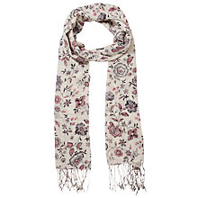Buy Fat Face Porcelain Floral Print  Scarf, Ivory Online at johnlewis.com