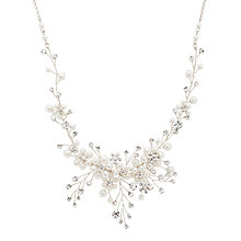 Buy Alan Hannah Pearl and Crystal Spray Necklace, Silver Online at johnlewis.com