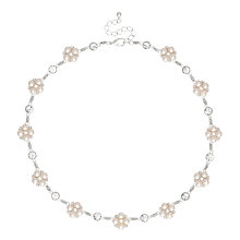 Buy Alan Hannah Pearl Cluster Collar Necklace, Silver Online at johnlewis.com