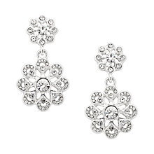 Buy Alan Hannah Filigree Crystal Drop Earrings, Silver Online at johnlewis.com