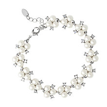 Buy Alan Hannah Triple Pearl and Crystal Cluster Bracelet Online at johnlewis.com