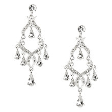 Buy Alan Hannah Crystal Tear Drop Chandelier Earrings, Silver Online at johnlewis.com