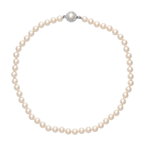 Buy Alan Hannah Single Row 8mm Pearl Necklace Online at johnlewis.com