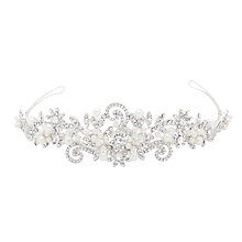 Buy Alan Hannah Pearl and Crystal Swirl Tiara, Silver Online at johnlewis.com