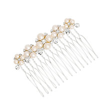 Buy Alan Hannah Pearl and Crystal Cluster Hair Comb, Silver Online at johnlewis.com
