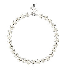 Buy Alan Hannah Triple Pearl and Crystal Cluster Necklace Online at johnlewis.com