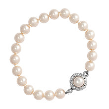 Buy Alan Hannah Single Row 8mm Pearl Bracelet Online at johnlewis.com