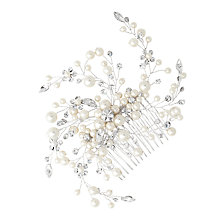 Buy Alan Hannah Pearl and Crystal Spray Hair Comb, Silver Online at johnlewis.com