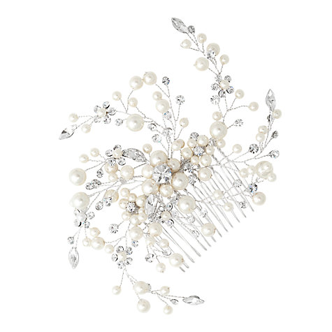 Buy Alan Hannah Pearl and Crystal Spray Hair Comb Online at johnlewis.com