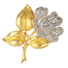 Buy Susan Caplan Vintage 1960s Trifari Gold and Silver Rose Brooch Online at johnlewis.com