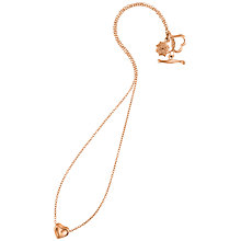Buy Dower & Hall Dimpled Heart Vermeil Pendant Online at johnlewis.com