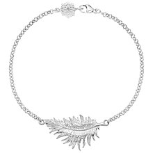 Buy Dower & Hall Small Sterling Silver Feather Bracelet Online at johnlewis.com