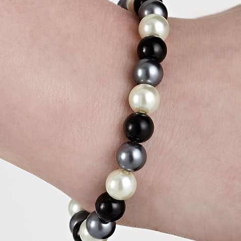 Buy John Lewis Faux Pearl Earrings and Bracelet Set, Black / White Online at johnlewis.com