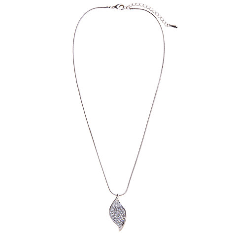 Buy John Lewis Swarovski Twist Pendant Necklace and Stud Earring Set, Silver Online at johnlewis.com