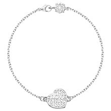 Buy Dower & Hall Memento Kisses Heart Bracelet, Silver Online at johnlewis.com