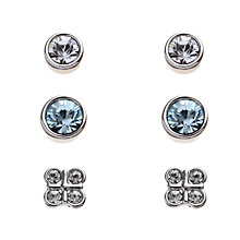 Buy John Lewis Swarovski Crystal Earring Triple-Pack, Multi Online at johnlewis.com