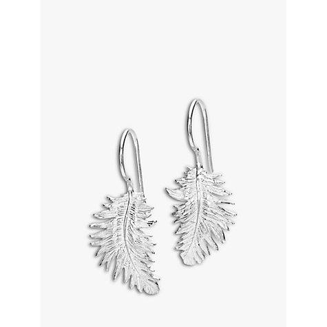 Buy Dower & Hall Small Feather Sterling Silver Drop Earrings Online at johnlewis.com