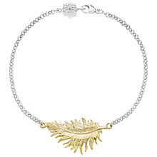 Buy Dower & Hall Small Vermeil Feather Sterling Silver Bracelet Online at johnlewis.com