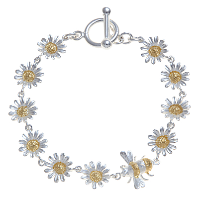 Martick Bee and Daisy Bracelet, Silver / Gold