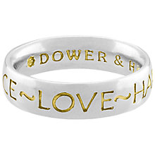 Buy Dower & Hall Memento Sterling Silver Court Ring, Size P Online at johnlewis.com