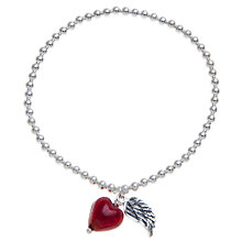 Buy Martick Heart and Angel Wing Bracelet, Red Online at johnlewis.com