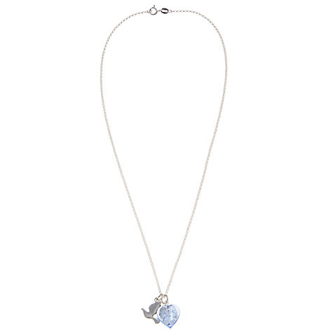 Buy Martick Bohemian Heart and Dove Pendant Necklace, Blue/Silver Online at johnlewis.com
