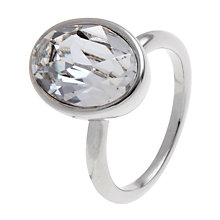 Buy John Lewis Swarovski Crystal Oval Ring, Silver Online at johnlewis.com
