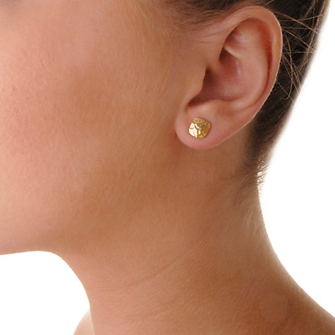 Buy Dower & Hall 18ct Vermeil Flat Square Stud Earrings Online at johnlewis.com