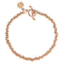 Buy Dower & Hall Small Nomad Nugget Vermeil Bracelet, Rose Gold Online at johnlewis.com