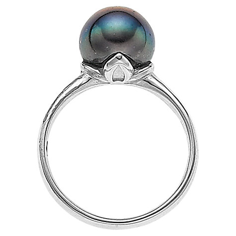 Buy Dower & Hall Sterling Silver Freshwater Pearl Quatrefoil Ring Online at johnlewis.com