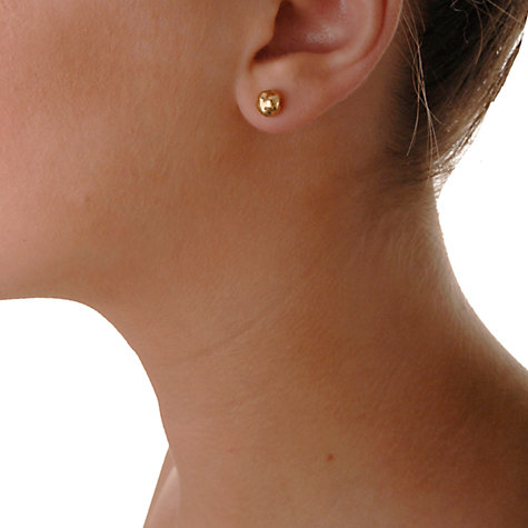 Buy Dower & Hall Nomad Textured Nugget Vermeil Stud Earrings, Rose Gold Online at johnlewis.com