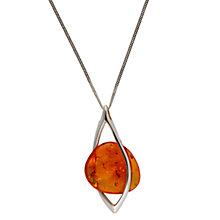 Buy Be-Jewelled Sterling Silver Hand-Cut Pendant, Cognac Online at johnlewis.com