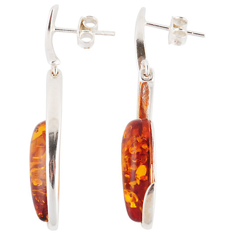 Buy Be-Jewelled Hand Cut Drop Earrings, Cognac Online at johnlewis.com