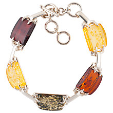 Buy Be-Jewelled Amber Segment Bracelet, Multi Online at johnlewis.com