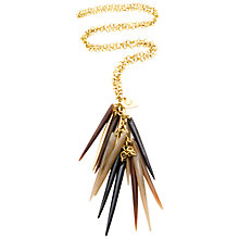 Buy Made Shisake Horn Spike Drop Cluster Pendant, Brown Online at johnlewis.com