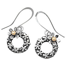 Buy Linda Macdonald Floral Detail Earrings, Silver/Gold Online at johnlewis.com