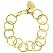 Buy Made Kikuku Linked Hoop Bracelet, Gold Online at johnlewis.com