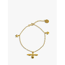 Buy Alex Monroe 25th Anniversary Baby Bee Charm Bracelet, Gold Online at johnlewis.com