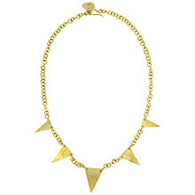 Buy Made Tuthoka Triangle Spike Necklace, Gold Online at johnlewis.com