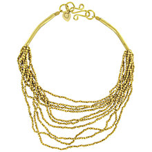 Buy Made Abubacarr Multistrand Beaded Tube Statement Necklace, Gold Online at johnlewis.com