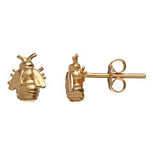 Buy Alex Monroe 22ct Gold Vermeil Little Bee Stud Earrings Online at johnlewis.com