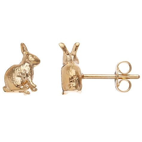 Buy Alex Monroe 22ct Gold Vermeil Gold Bunny Stud Earrings Online at johnlewis.com