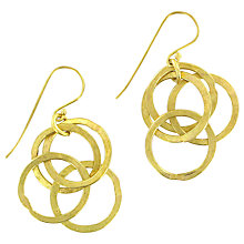 Buy Made Kikuku Linked Hoop Drop Earrings, Gold Online at johnlewis.com