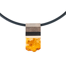 Buy Be-Jewelled Amber Wood Pendant, Cognac Online at johnlewis.com