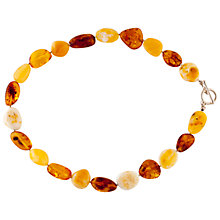 Buy Be-Jewelled Pebble Shape Necklace, Cognac Online at johnlewis.com