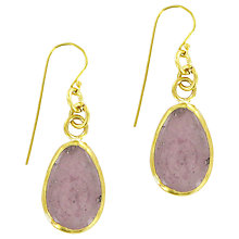 Buy Made Mayai Glass Drop Earrings, Purple Online at johnlewis.com
