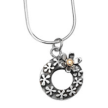 Buy Linda Macdonald Heart and Droplet Pendant Necklace, Silver/Gold Online at johnlewis.com