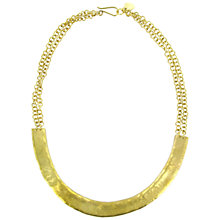 Buy Made Mtaro Crescent Chain Necklace, Gold Online at johnlewis.com