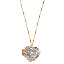 Buy Alex Monroe Posy Flower Long Locket Pendant, Gold / Silver Online at johnlewis.com