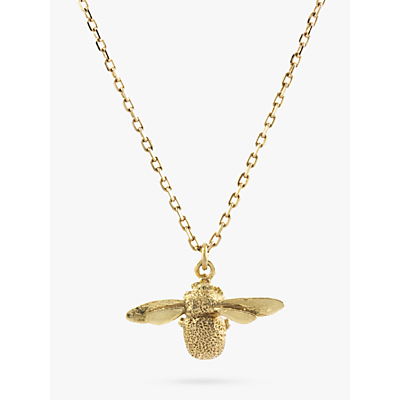 Alex Monroe 18ct Yellow Gold Goldcrest Teeny Tiny Bumble Bee Pendant, Gold